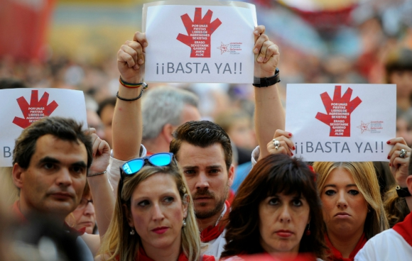Manifestación contra las agresiones sexuales en España. Foto: AFP.