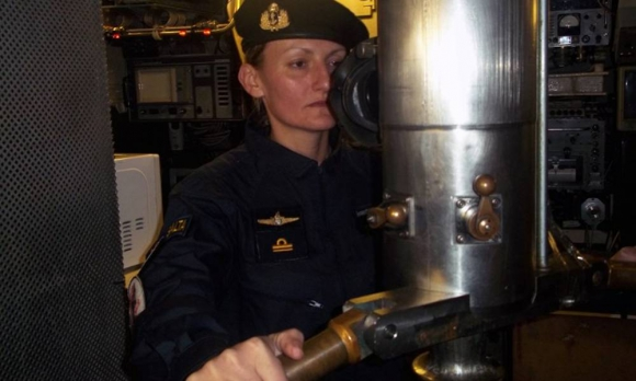 Eliana Krawczyk, primera submarinista de Sudamérica. Foto: AFP