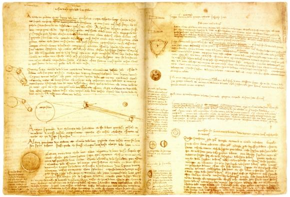 """""""Codex Leicester"""" de Da Vinci. v: Wikimedia Commons"""