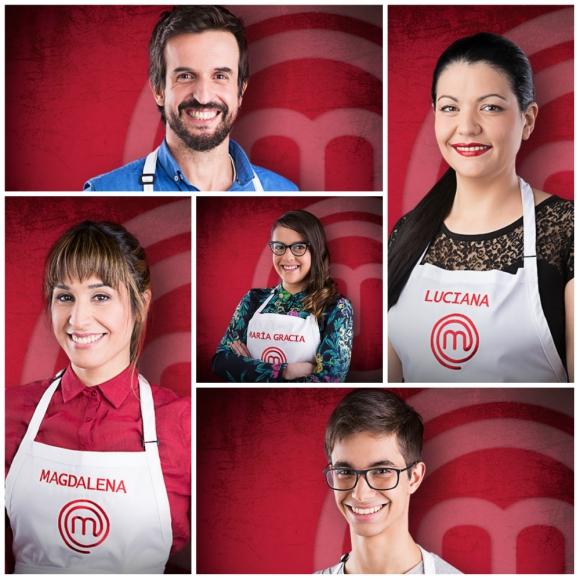 Los cinco finalistas de esta segunda temporada. Foto: Difusión