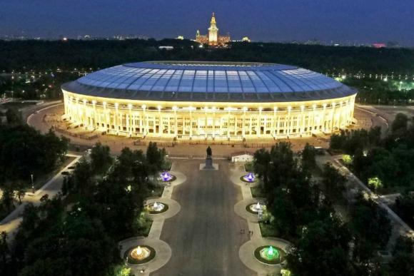 El estadio Luzhniki de Moscú.