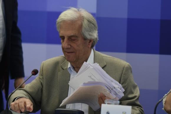 Vázquez: no habrá marcha atrás en la reestructura del BROU. Foto: D. Borrelli