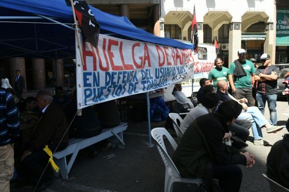 Ocupación del sindicato del Gas. Foto: Ariel Colmgena