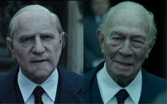 "Kevin Space y Christopher Plummer en ""All the money in the world"""