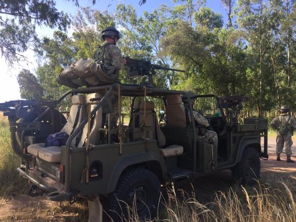 """Ejercicio militar """"Frontera segura"""". Foto: Néstor Araújo"""
