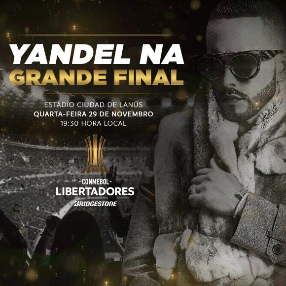 Yandel en la final de la Libertadores