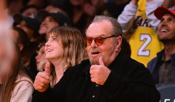 Jack Nicholson un infaltable en los partidos de Los Angeles Lakers