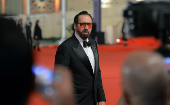 Nicolas Cage en su llegada al Festival de Cine de El Cairo