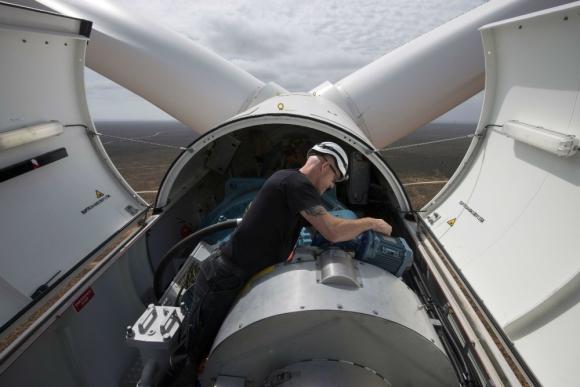 Eólica: los parques de Ventus tienen una capacidad de 72,9 MW. Foto: AFP