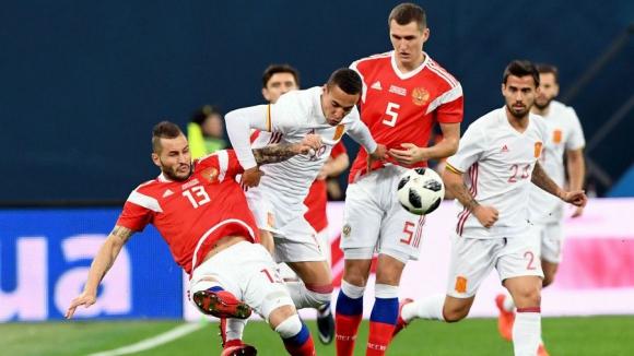 Rusia igualó 3-3 con España en un amistoso. Foto: AFP