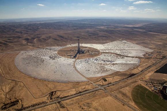 La planta solar de Ashalim. Foto: Difusión