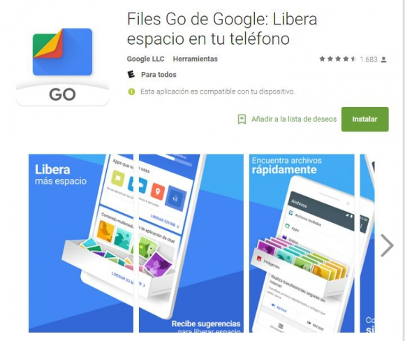 Files Go de Google
