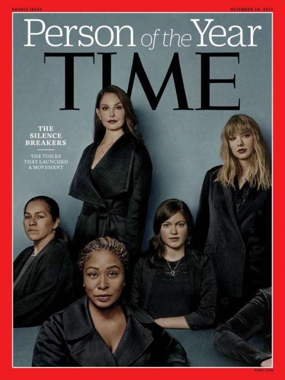 Los que rompieron el silencio, elegidos persona del año 2017. Foto: Time.