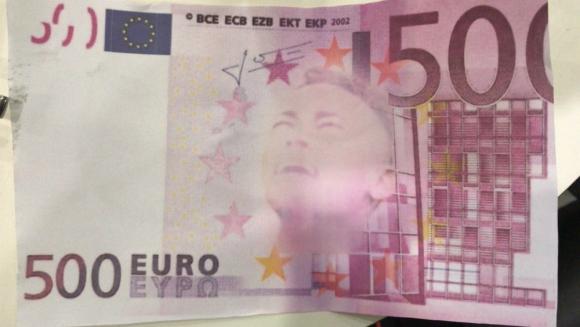 Un billete falso con la cara de Neymar
