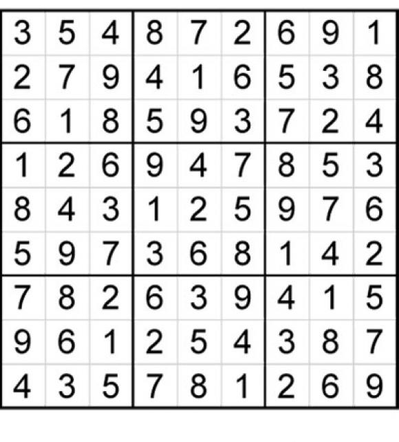 Solución del Sudoku anterior.