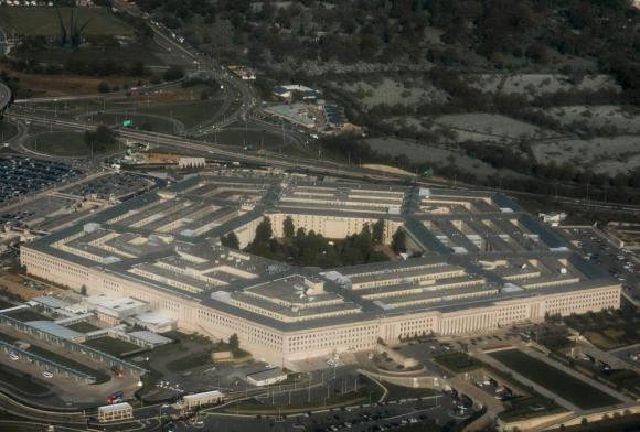 Vista aérea del sede de El Pentágono, en el condado de Arlington, Virginia. Foto: AFP