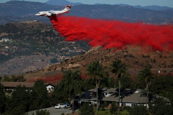 California: los incendios consumieron costosas mansiones. Foto: Reuters