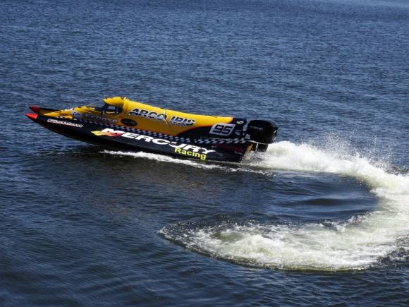 La F1 del agua: barcos con formas aerodinámicas únicas en su tipo. Foto: R. Figueredo