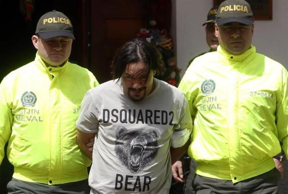 """La policía de Colombia detiene a Juan Carlos Mesa, alias """"Tom"""". Foto: EFE"""
