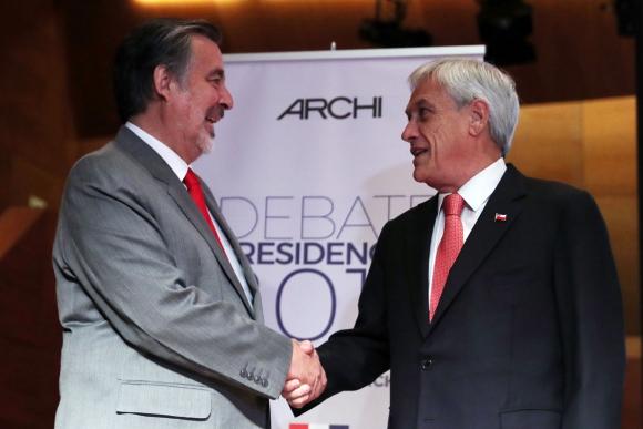 Piñera y Guillier disputarán la presidencia de Chile el próximo domingo. Foto: EFE