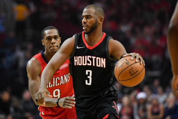 Chris Paul realizó grandes jugadas en el triunfo de Houston Rockets
