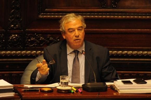 Luis Alberto Heber en el Parlamento. Foto: Ariel Colmegna