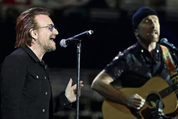 U2. La banda, al igual que Coldplay, Bruno Mars y Ed Sheeran se presentó La Plata.