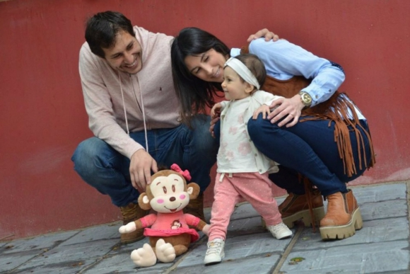 Rodrigo Odriozola junto a su familia.