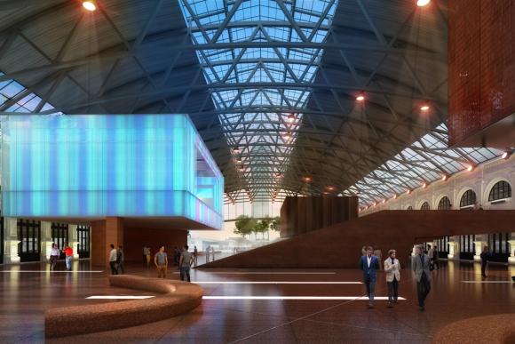Jóvenes arquitectos se atrevieron a imaginar la abandonada Estación Central, moderna, operativa y reluciente. Foto: Difusión