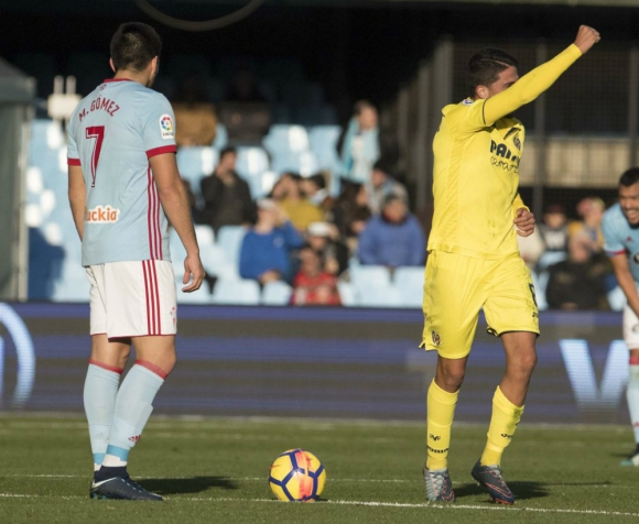 Maxi Gómez no pudo convertir frente al Villarreal