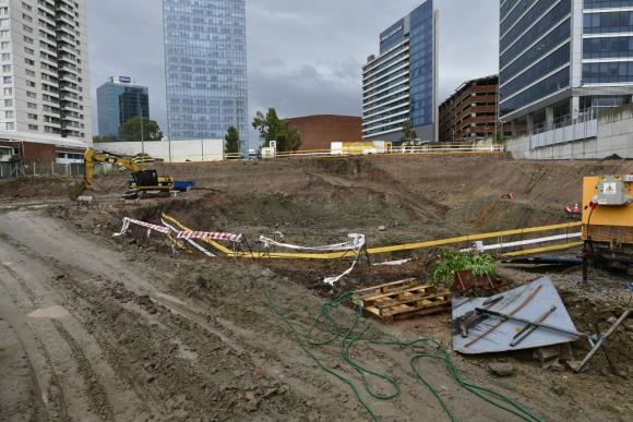 El pozo: ya se ha adelantado en algo la obra con excavaciones. Foto: F. Ponzetto