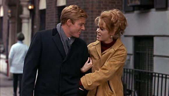 """Robert Redford y Jane Fonda en """"Descalzos en el Parque"""""""