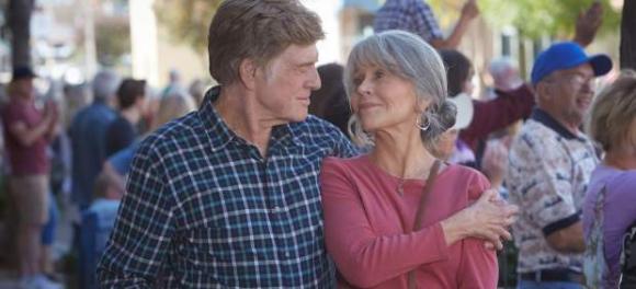 """Jane Fonda y Robert Redford en """"Nosotros en la noche"""""""