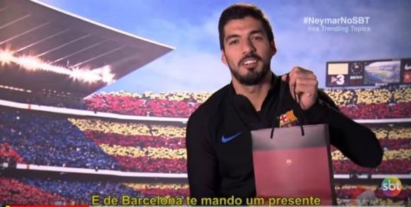 El regalo de Luis Suárez a Philippe Coutinho