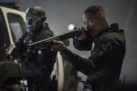 Joel Edgerton y Will Smith, dos policías en busca de una varita mágica. Foto: Difusión