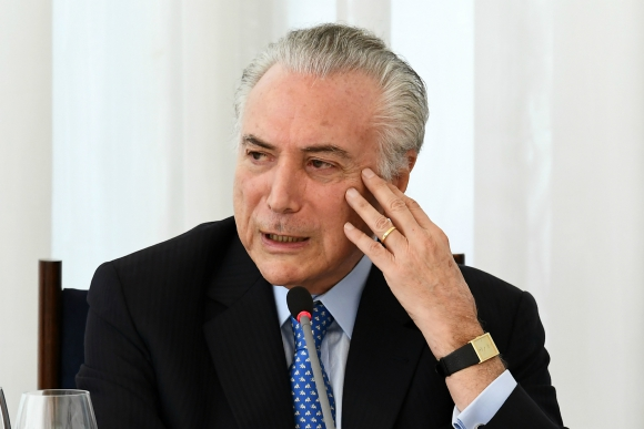 Michel Temer, presidente de Brasil. Foto: AFP.
