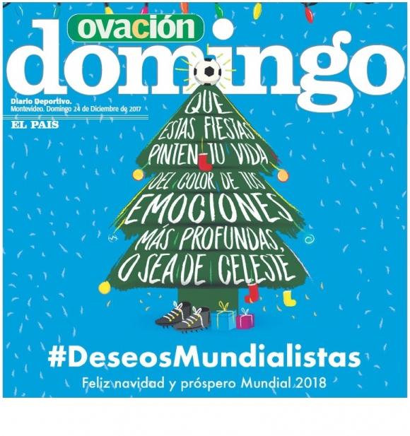 Portada de Ovación: domingo 24 de diciembre de 2017.