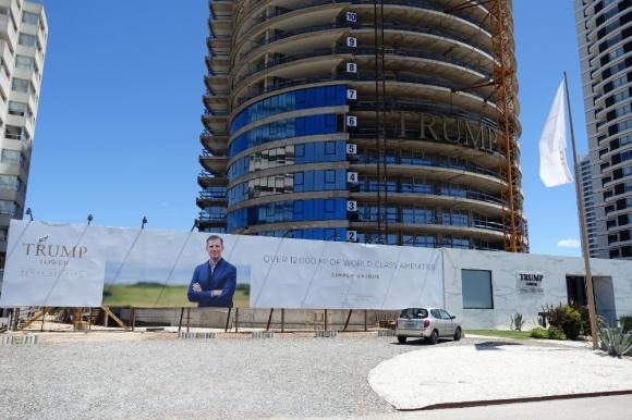 Obras en la Torre Trump de Punta del Este. Foto: Ricardo Figueredo.