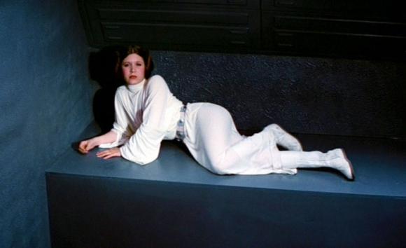 "Carrie Fisher en ""Guerra de las Galaxias"""