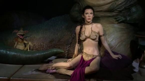 "Carrie Fisher en ""El retorno del Jedi"""