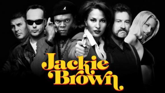 """Afiche promocional de """"Jackie Brown"""""""