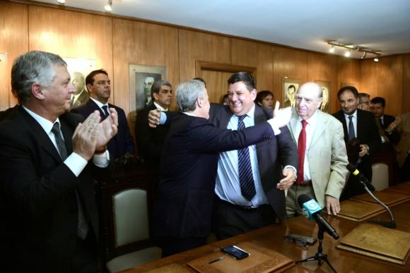 Jorge Barrera asume como presidente de Peñarol. Foto: Marcelo Bonjour