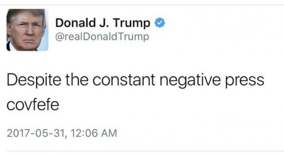 """Donald Trump """"covfefe"""""""