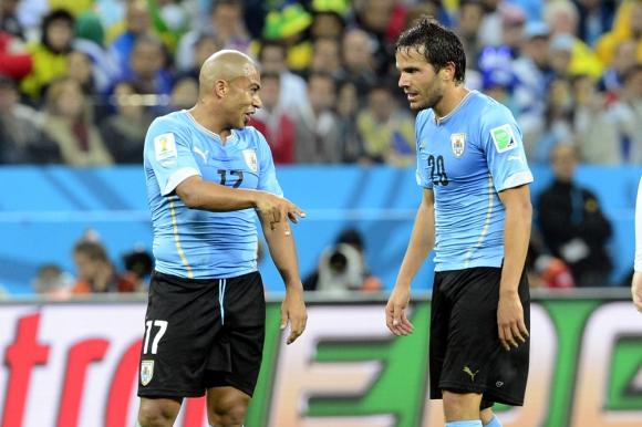 Egidio Arévalo Ríos y Álvaro González en el Mundial. Foto: Nicolas Pereyra