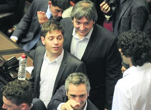 Los diputados Axel Kicillof y Máximo Kirchner son denunciados por el gobierno. Foto: La Nación/ GDA