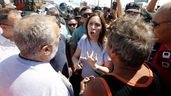 Vidal enfrentó a guardavidas en Mar del Plata. Foto: La Nación   GDA
