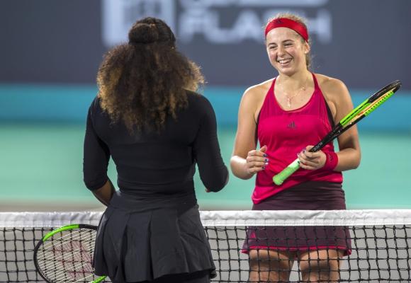 Jelena Ostapenko. Foto: AFP.