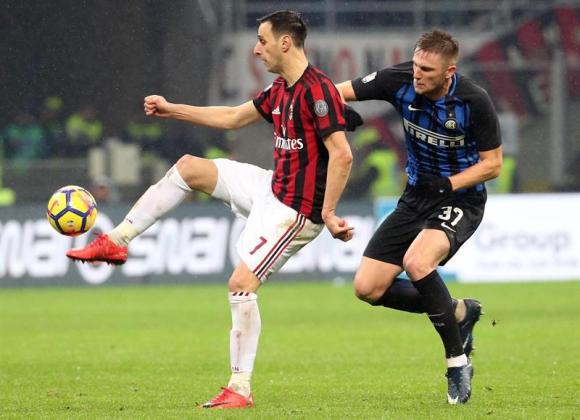 Nikola Kalinic ante el Inter. Foto: EFE