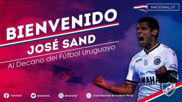La imagen de Nacional en Twitter con la llegada de José Sand.