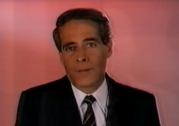 Pablo Millor en la campaña pesidencial de 1989. Foto: captura YouTube